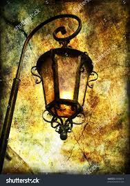 Old Lantern Light Fixtures by Old Lantern Artistic Picture Stock Illustration 28788979
