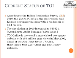 audit bureau of circulation usa the times of india name says it all the times of india is