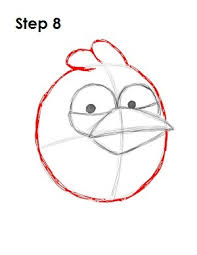 draw angry birds blue