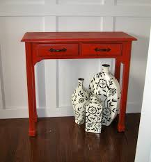 Accent Table Decor Remodelaholic Red Painted And Glazed Accent Table