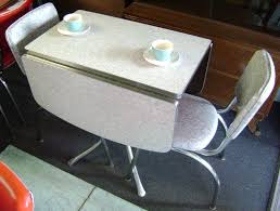Retro Drop Leaf Kitchen Tables And Chairs Gray Formica Top Drop - Retro formica kitchen table