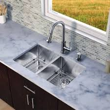 kitchen sink with faucet set stainless steel sink faucet sets for less overstock