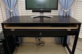 Computer Desks With Keyboard Tray Ikea Computer Desk With Keyboard Tray Smll Plce Hckers Hckers Ikea