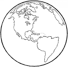 round and heart shaped planet earth coloring pages kids aim