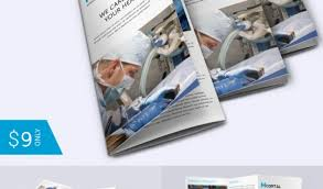 tri fold brochure template indesign free download simple hospital