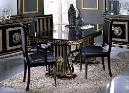 Italian Style Dining Room Furniture by Rosella Italian Classic Black Rectangular Dining Table
