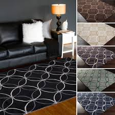 Purple And Black Area Rugs Tufted Geometric Contemporary Area Rug 5 X 8 Pattern Black