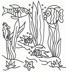 happy ocean scene coloring pages kids book 7010 unknown