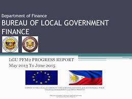 government bureau department of finance bureau of local government finance ppt