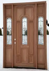 Door Exterior Sidelight Glass Inserts Exterior Doors With Fiberglass Vs Wood