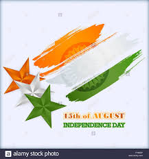 holidays template with stars in national flag colors of india for