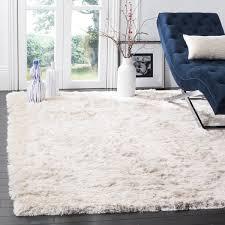 Area Rugs 4 X 6 Safavieh Handmade Silken Glam Shag Ivory Rug 4 X 6
