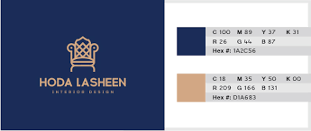 blue swatches best 2 color combinations for logo design with free swatches