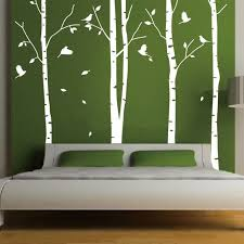 birch tree decor white tree wall sticker decor living room vinyl wall decals