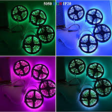 rgb led strip lights 12v 5m 10m 15m 20m rgb led strip 5050 smd flexible light dc 12v 60led