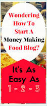 how to start a food blog and make money blogging blog and food