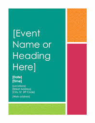 free printable event flyer templates best template examples