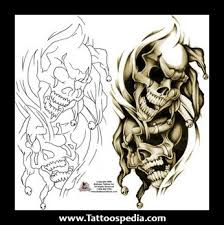 laugh now cry later skull tattoos