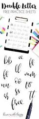 Constellations Worksheets Double Letter Free Brush Calligraphy Practice Worksheets Dawn