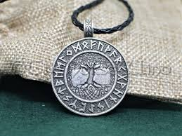 thenorsewind yggdrasil runes viking necklace tree of viking