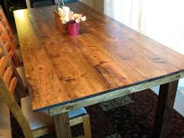 how to stain pine table rustic farmhouse table built from pine and whitewood