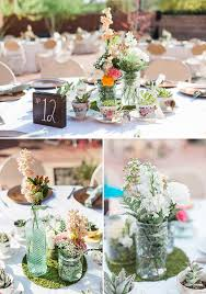 Flower Vases Centerpieces Warm And Tender Arizona Wedding