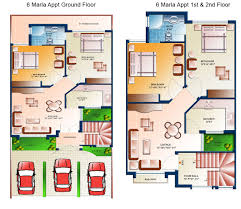 marla house maps in pakistan moreover 10 marla house plan ground