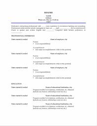 Free Printable Sample Resume Templates 100 Resume Sample Free Template Curriculum Vitae Interior