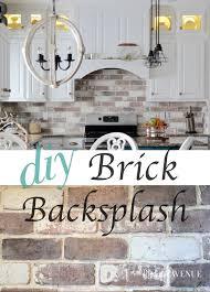 DoItYourself Brick Veneer Backsplash Remington Avenue - Brick veneer backsplash