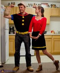 35 Diy Halloween Costume Ideas Today Finished Product Olive Oyl U0026 Popeye Homemade Halloween Costume