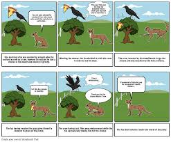 the fox and the crow storyboard by augustinbrunet