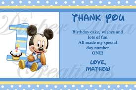 mickey mouse thank you cards mickey mouse thank you card