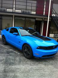 Blue Mustang Black Stripes Hood Stripes Put Your Pics Here Mustang Evolution