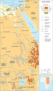 nile river on map nile river location students britannica homework help