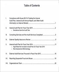 audit report template word 14 internal audit report templates
