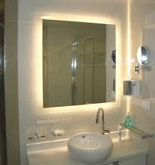 Lit Bathroom Mirror Alluring Backlit Bathroom Mirror On Exceptional Remodel Pinterest