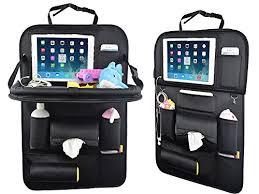tablette de voyage pour siege auto organiseur pour arrière de siège de voiture avec support de