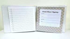 gift register pressed clovers shower registry book great gift idea