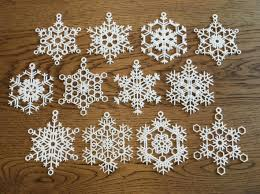 snowflake ornaments snowflake ornaments one dozen large hlksfdswh by mathgrrl