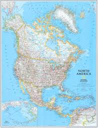 Physical Map North America by National Geographic North America Map Zoom