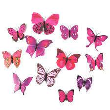 Butterfly Cake Decorations On Wire Artificial Butterflies Home U0026 Garden Ebay