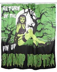 Zombie Pinup Shower Curtain by Horrific Halloween Shower Curtains Webnuggetz Com