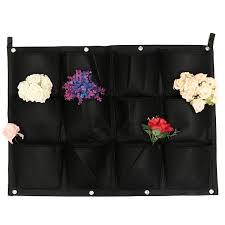 Vertical Wall Garden Plants by Aliexpress Com Buy 12 Pockets Vertical Garden Wall Hanging Bag