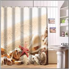 seashell shower curtain bathroom set my web value