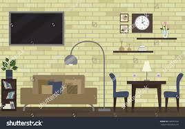 dining room living room decoration design stock vector 648472720
