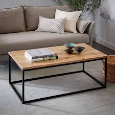 west elm concrete side table box frame coffee table raw mango minimalist design industrial