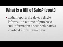 how to write a bill of sale youtube