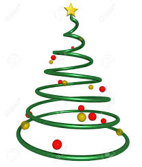 3d rendering of a christmas tree made from a spiral shape with
