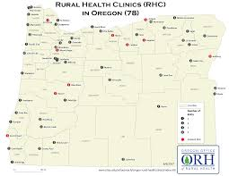 Map Of Brookings Oregon by Directory Of Rhcs Oregon Office Of Rural Health Ohsu