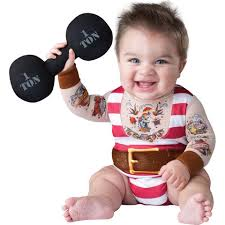12 Month Boy Halloween Costumes Boys Silly Strongman Halloween Costume Infant Size 6 12 Months